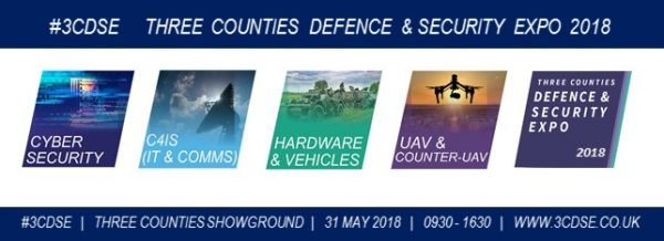 Three Counties Defence and Security Expo promotional banner